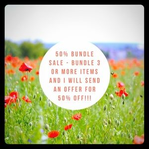 Bundle Sale! 50% off bundles of 3 or more items!